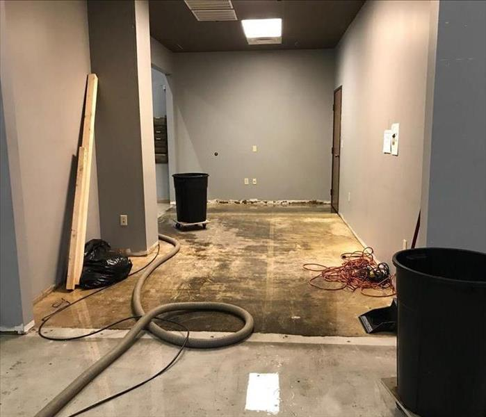 Commercial Office Experiences Water Damage After Water Heater Ruptures Before