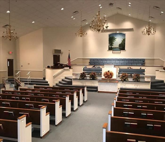 Flooded Church Needed Water Damage Restoration After