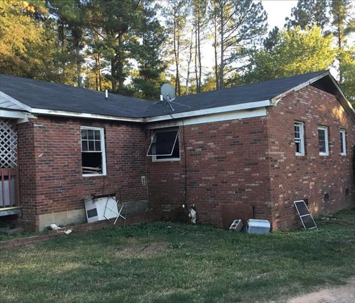 Electrical Fire Breaks Multiple Windows in Home