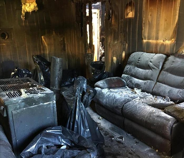 Walls of Home Destroyed From Fire